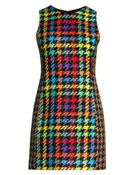 Coley Multicolor Houndstooth Dress by Alice + Olivia