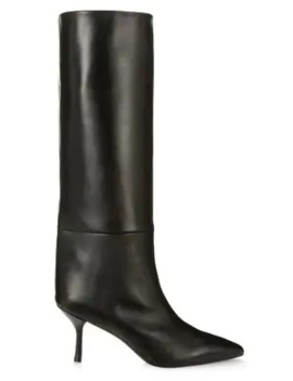 Magda Mid Calf Leather Boots by Stuart Weitzman