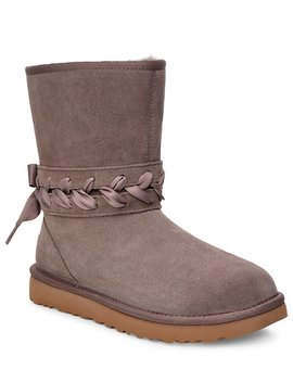Classic Suede Lace Short Boots by Ugg