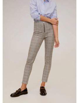 Cepleri Fermuarlı Dar Kesim Pantolon by Mango