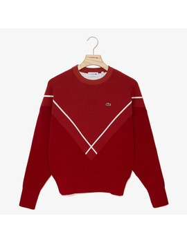 Women's Made In France Jacquard Crewneck Sweater by Lacoste