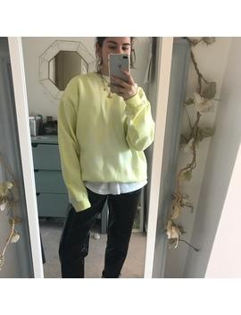 Pengest Oversized Yellow Acid Wash Tie Dye Sweater / by Depop