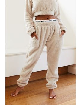 Oatmeal Cream Teddy Joggers by Lounge