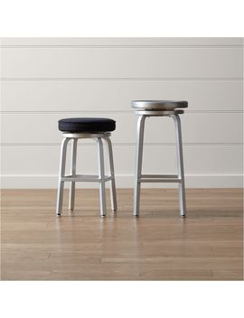 Spin Swivel Backless Bar Stools And Cushion by Crate&Barrel