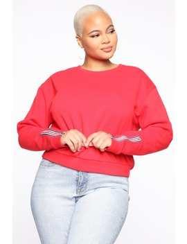 Bubbles And Bubbly Top   Red by Fashion Nova