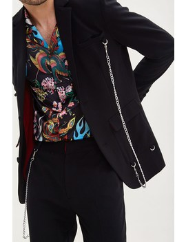 Curb Chain Buttoned Blazer by Forever 21