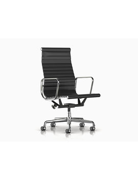 Eames Aluminum Group Executive Chair With Pneumatic Lift by Charles And Ray Eames  Designed