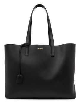 Black Leather Tote by Saint Laurent