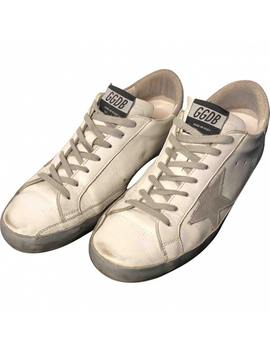 Superstar Leather Low Trainers by Golden Goose