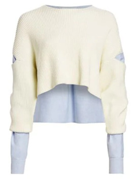 Mixed Media Cropped Sweater by Alexanderwang.T