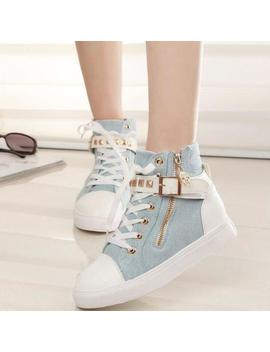 Studded Buckle Sneakers (4.5 8.5) by Dog Dog