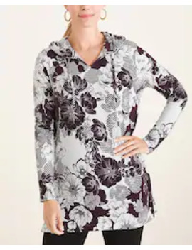 Floral Hooded Tunic by Zenergy