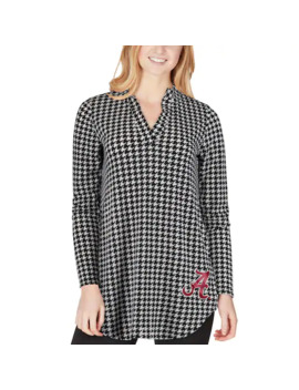 Women's Houndstooth Alabama Crimson Tide Houndstooth Allover Tunic Shirt by Unbranded