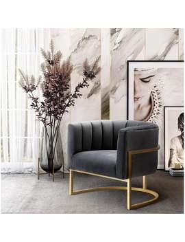 Magnolia Grey Velvet Chair by Generic