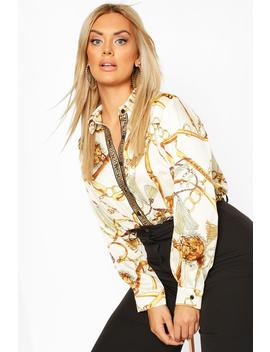 Plus Chain Print Shirt by Boohoo