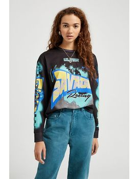 Uo Motocross Airtex Skate T Shirt by Urban Outfitters