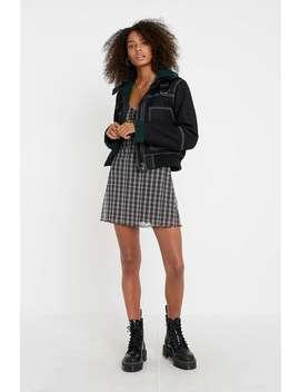 "Urban Outfitters– Kariertes Minikleid ""Elodie"" In Schwarz Weiß by Urban Outfitters Shoppen"