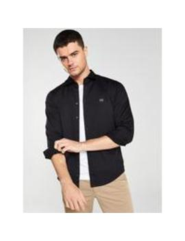 Mypop 2 Pack Long Sleeve Stretch Shirt   Black by Boss