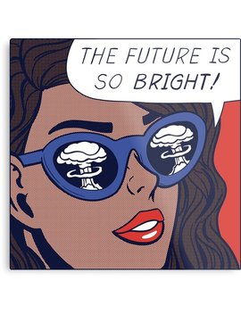 Pop Optimism Girl Metal Print by Corbin Hunsaker