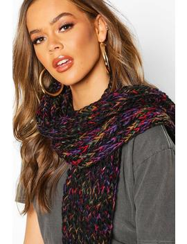 Rainbow Chunky Knit Scarf by Boohoo