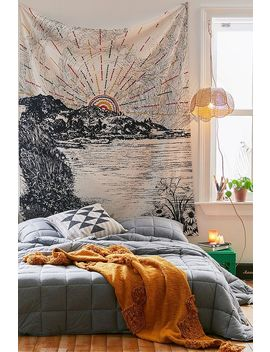 Embroidered Sunrise Landscape Tapestry by Urban Outfitters