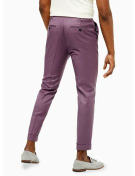 Purple Skinny Smart Trousers by Topman