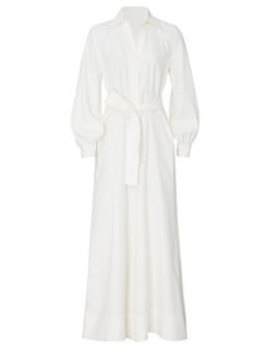Belted Ivory Jumpsuit by Co