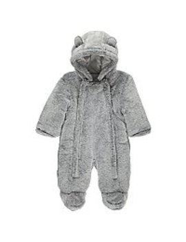 Grey Faux Fur Hooded Snowsuit by Asda