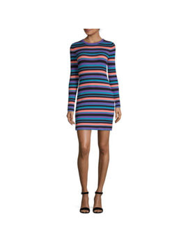 Arizona Juniors Long Sleeve Striped Bodycon Dress by Arizona