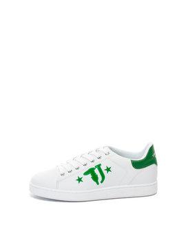 Pantofi Sport De Piele Ecologica, Cu Imprimeu Logo by Trussardi Jeans