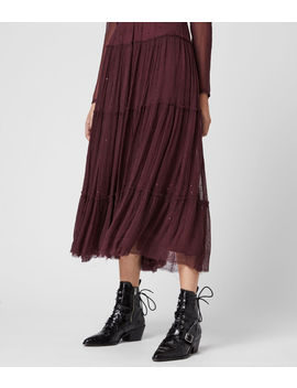 Rochi Embellished Long Sleeve Dress by Allsaints