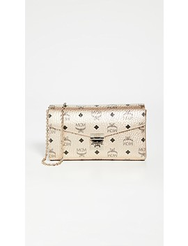 Millie Visetos Small Crossbody Bag by Mcm