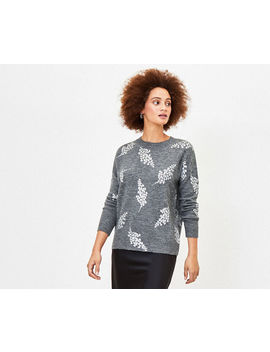 Foil Leaf Print Jumper by Oasis