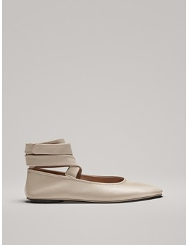 Ballerines LacÉes Écrues by Massimo Dutti