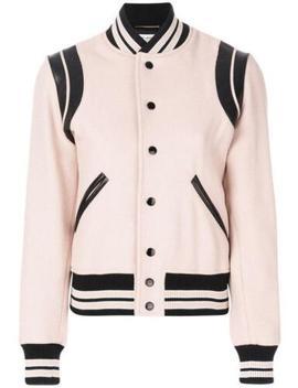 Nwt Saint Laurent Paris Slp Blush Pink Classic Teddy Varsity Wool Jacket Fr38 by Ebay Seller