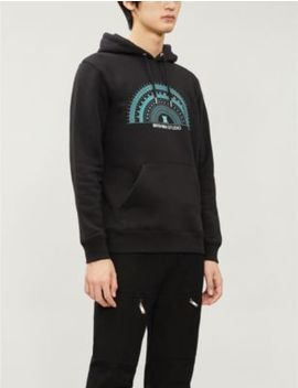 Compass Graphic Print Organic Cotton And Recycled Polyester Hoody by Daniel Arsham