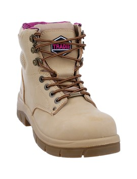 Tradie Men's The Boss Work Boots   Sand by Tradie