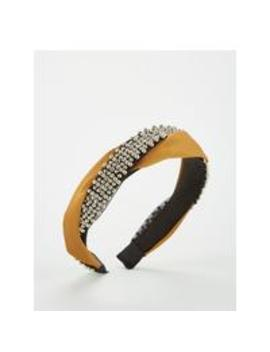Beaded Twist Hairband   Mustard by V By Very