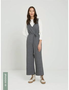 Good Cotton Knitted Jumpsuit In Dark Gray Heather by Frank & Oak