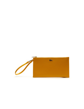Women's Chantaco Piqué Leather Zip Pouch by Lacoste
