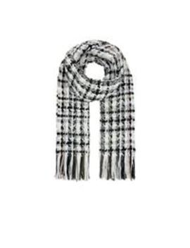 Goldie Check Blanket Scarf   Mono by Accessorize