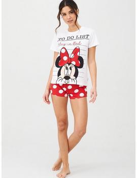 Minnie Shorts Set   Print by Disney