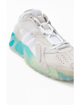 Adidas White & Green Streetball Shoes by Pacsun