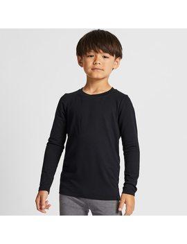 T Shirt Thermique Heattech Extra Chaud À Manches Longues Enfant by Uniqlo