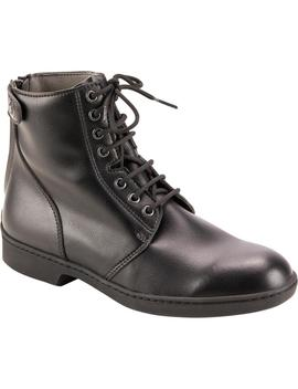 Fouganza 500 Adult Lace Up Horse Riding Jodhpur Boots   Black by Fouganza