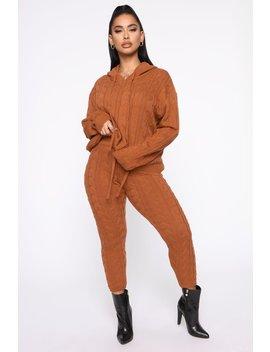 Can You Knit It Sweater Set   Camel by Fashion Nova