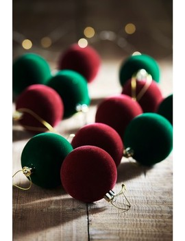 12 Pack Flocked Baubles by Next