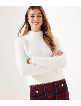 Fuzzy Cropped Sweater by Loft