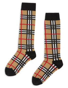 Check Socks by Burberry