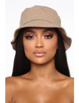Keep It Basic Bucket Hat   Khaki by Fashion Nova